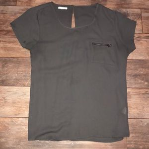 Maurices Blouse with Zip Pocket
